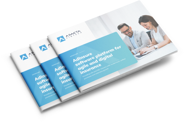 AdInsure insurance platform brochure