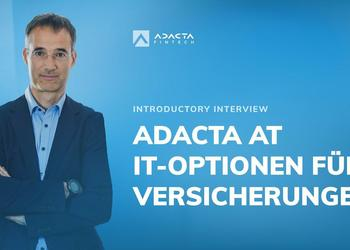 Adacta at IT-Optionen für Versicherungen: Introductory interview with Jernej Mazi